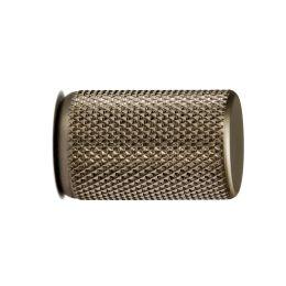 Stiftknop ribbel 17,5mm H-28mm alu. RVS Look